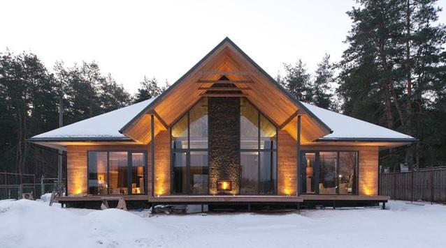 Красивые деревянные дома из бруса  Фото